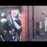 Riot police sent to help bailiffs .fight on